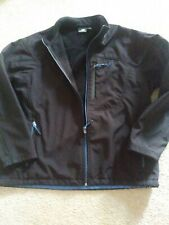 Mens NEW BALANCE Soft Shell Fleece Lined Black Jacket. Size XL. GREAT CONDITION