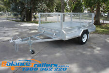 8x5 Galvanised Fully Welded Box Trailer With 600mm Cage & Brake ATM1400KG