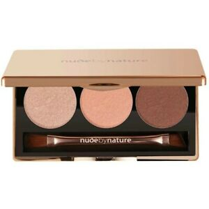 Nude By Nature Natural Illusion Eyeshadow Trio - 03 Rose Professional Eye Looks