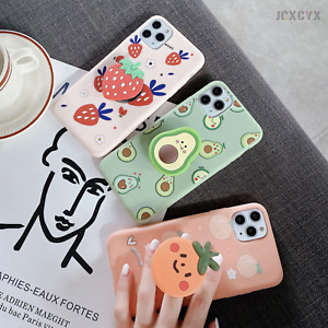 3D Luxury cute cartoon fruit Soft silicone phone case for iPhone