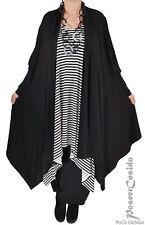 LAGENLOOK Tunika Shirt Jacke Mantel schwarz 44 46 48 50 52 54 56 58 XL-XXL-XXXL