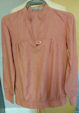 Zara Grandad Collar Pink  Top Blouse Size 10/12 Ladies Womens Lovely Top