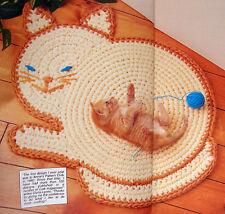 Crochet Pattern Only ~ Cat Rug in the Shape of a Kitty ~ Special Bed!