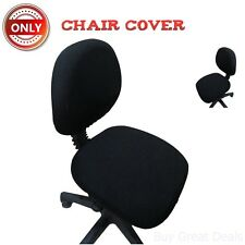 Computer Chair Cover Washable Durable Fabric Coating Office Hair Supplies Black