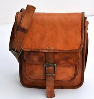 Men's Genuine Leather Best Brown Cross body Shoulder Satchel Messenger Bag New