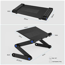 360° Height Adjustable Laptop Desk Stand Cooling Fans Computer Laptop Table Tray
