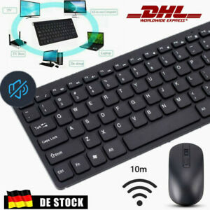 PC Computer Wireless Tastatur Maus-Set Funk Keyboard Kabellos Neu Schwarz