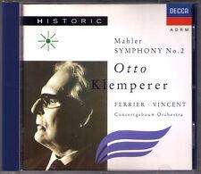 Otto KLEMPERER: MAHLER Symphony No.2 Jo Vincent Kathleen Ferrier DECCA CD 1951