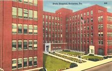 Scranton PA~State Hospital For the Insane & Nurses Home~1940 Linen Postcard