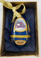 Mr Christmas Hinged Musical Egg Ornament Valerie Parr Hill Christmas Church