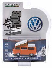 1:64 GreenLight *CLUB V-DUB* VOLKSWAGN VW Orange 1973 Westfalia Campmobile *NIP*