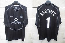 VINTAGE Maillot MANCHESTER UNITED goal BARTHEZ n°1 NIKE 2000 2002 shirt XL