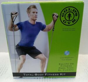 """Golds Gym Total Body At Home Fitness Kit missing-"""" Exercise Chart & Workout DVD"""""""