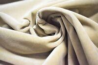 """JB Martin Linen Beige Woven Velvet Fabric Upholstery Suede 54"""" Soft Durable"""