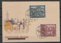 CU7647/ GERMANY SOVIET ZONE – MI # 240 / 241 COMPLETE ON ILLUSTRATED FDC CARD