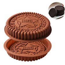 Large Cookies Shape Silicone Cake Pan Bread Pizza Baking Tray Bakeware Mould