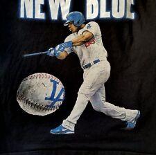 LA Dodgers Yasiel Puig Baseball T Shirt 3XL Black Short Sleeve Blue