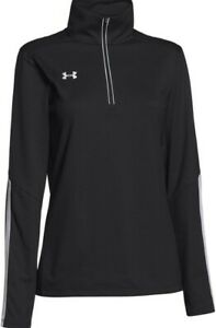 UNDER ARMOUR Women's Qualifier 1/4 Zip Top NWT Black SIZE: LARGE FREE SHIPPING