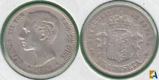 ALFONSO XII. 1 PESETA DE 1876 (*76) DEM. PLATA 0835. (2)