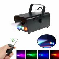 500W Fog Smoke Machine RGB Multi Color LED Light DJ Stage Effect Wireless Remote