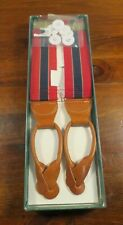 MIB Dooney and Bourke Red and Blue Stripe Braces Suspenders... D2