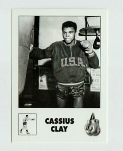 """""""RARE"""" CASSIUS CLAY/MUHAMMAD ALI 1960 ROME OLYMPICS B/W BOXING CARD! GOLD MEDAL!"""