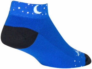 SockGuy Classic Glitter Socks - 1 inch, Blue, Women's, Small/Medium