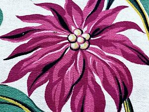 1930's South Beach Tropics Barkcloth Vintage Fabric Drape Curtain Remnant