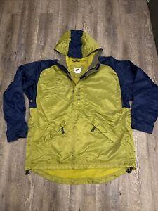 Nike Jacket Mens Large Green And Navy Wind Rain