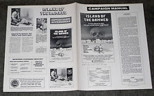 ISLAND OF THE DAMNED/WHO CAN KILL A CHILD original 1978 pressbook LEWIS FIANDER