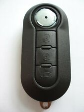 REPLACEMENT 3 BUTTON FLIP KEY CASE FOR FIAT 500 PANDA REMOTE FOB WITH LOGO