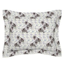 Animals Garden Dog Keeshond Pastel Flowers Pillow Sham by Roostery