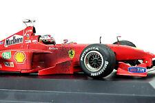 Hot Wheels 1:18 Ferrari F399 M.Schumacher 1999 Tabak Dirty Version mit Vitrine
