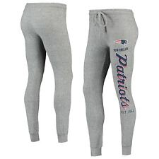 New England Patriots NFL Women's Heather Gray Cuffed Sleepwear Sweatpants: S-XL