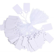1000 Pieces White Marking And Writable Price Tags For Displaying Jewelry Product