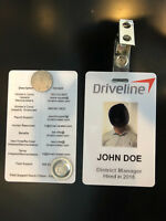 Driveline Employee Photo ID Badge - With Alligator Clip & Magnet