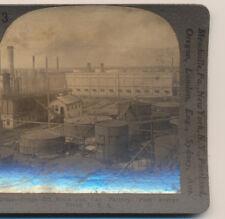 Crude Oil Stills & Can Factory Port Arthur TX Keystone Stereoview c1900