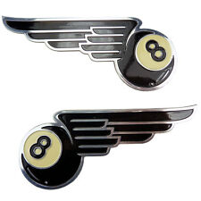 Schwarze Acht mit Flügel Emblem black eight with wings Chopper Hot Rod