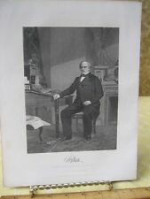 Vintage Print,SALMON PORTER CHASE,Gallery Eminent Americans,Alonzo Chappel,1860