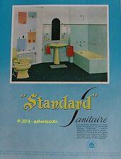 PUBLICITE IDEAL STANDARD APPAREIL SANITAIRE LAVABO PORCELAINE DE 1959 FRENCH AD