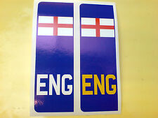 NUMBER PLATE England St George Europlate Car Van Stickers Decals 2 off 104mm