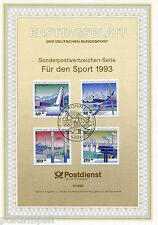ALLEMAGNE FEDERALE, RFA, 1993, SPORTS, 4 timbres, 1482/1485, DOCUMENT 1° JOUR