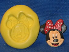 Minnie Mouse Face Push Mold  Food Safe Silicone  #514 Cake Chocolate Resin