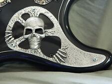 METAL SKULL PICKGUARD ! fits FENDER STRAT STRATOCASTER guitar HAND MADE!!
