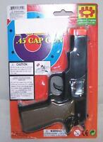 CAP GUN 45 PLASTIC SHOOTER play toy guns boy TOYS new play boy pistol shoot new