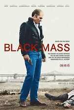 Black Mass double sided ORIGINAL MOVIE film POSTER Advance Johnny Depp Gangster