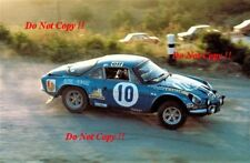 Bernard Darniche Alpine-Renault A110 1800 Acropolis Rally 1973 Photograph 1