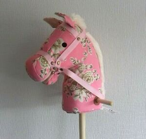 NEW Hobby Horse with wheels - pink floral WITH SOUNDS