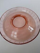 Vintage Antique Pink Depression Etched Glass Serving Plate