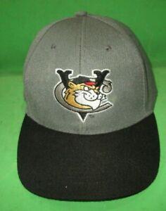 TRI CITY VALLEY CATS BASEBALL CAP HAT GREY AND BLACK CDTA